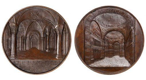 Hagia Sophia at Istanbul Bronze Medal, ND (1858)