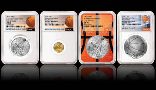 NGC Special Label 2020 Basketball Commemorative Coins