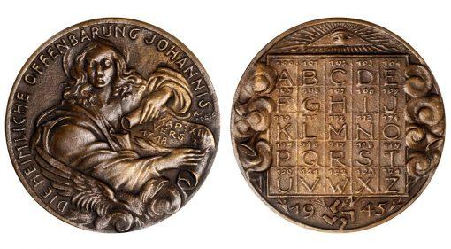 Revelations of John the Evangelist Cast Bronze Medal, 1945