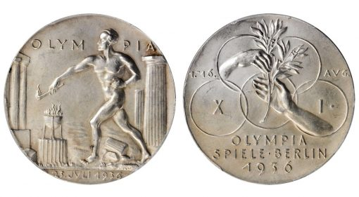The XI Olympic Games in Berlin Silver Medal, 1936