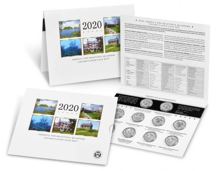 US Mint image 2020 America the Beautiful Quarters Uncirculated Coin Set