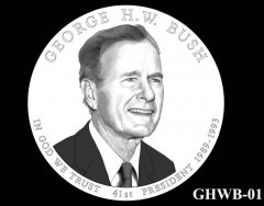 2020 George H.W. Bush Presidential $1 Coin Design Recommended
