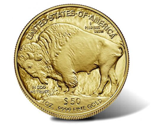 2020-W $50 Proof American Buffalo Gold Coin - Reverse