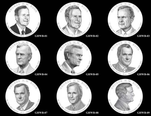 Design Candidates for the 2020 George H.W. Bush Presidential $1 Coin