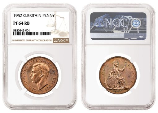 NGC Certified1952 Great Britain Penny