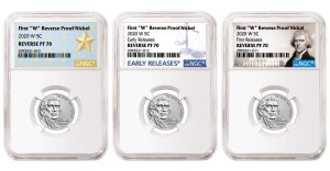 NGC Labels for 2020-W Reverse Proof Nickel