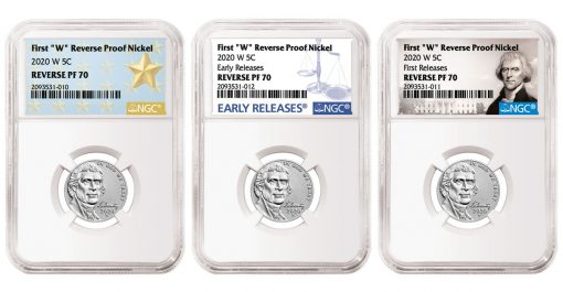 NGC Labels for 2020-W Nickels