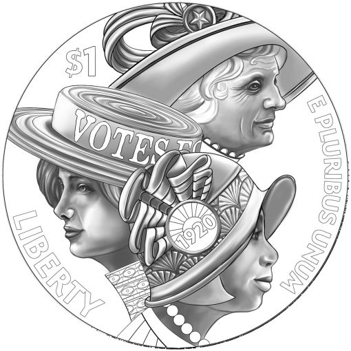 Women's Suffrage Centennial Silver Dollar - Obverse Design