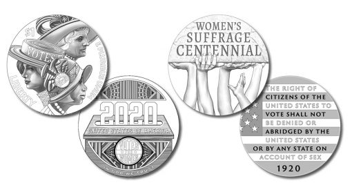 Women's Suffrage Centennial Silver Dollar and Silver Medal Designs