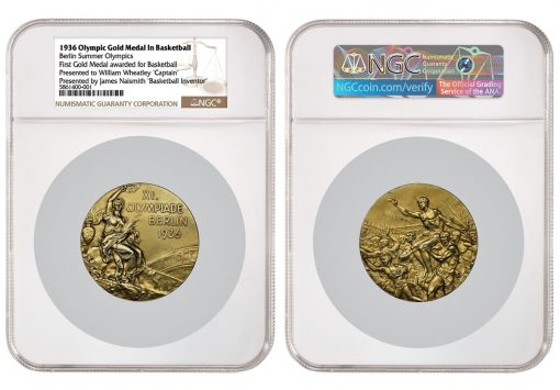 1936 Olympic Gold Medal in Basketbal First Medal Awarded
