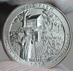 US Mint Sales: Weir Farm Quarters and 5 Oz Coin Debut