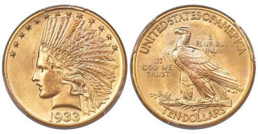 1933 Indian Eagle, MS65 PCGS