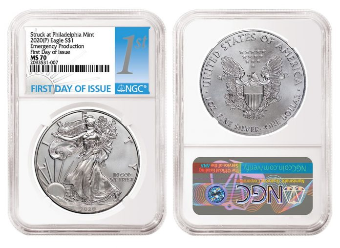 2020-P Emergency Silver Eagle graded NGC MS70