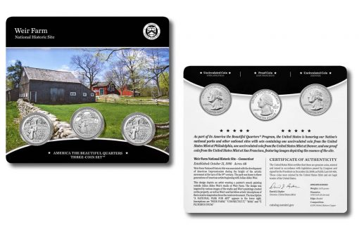 2020 Weir Farm National Historic Site Quarter Three-Coin Set