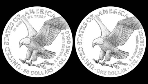 2021 American Eagle gold and silver coin reverse candidate design examples
