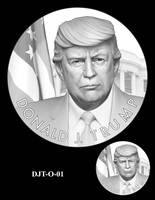 Donald Trump Presidential Medal Design - Obverse - DJT-O-1