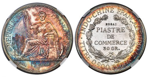 French Indo-China Pattern Piastre, PR67★ NGC