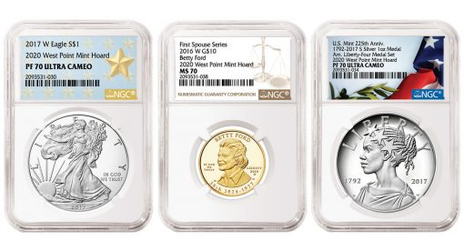 NGC Certified U.S. Mint 2016-2017 Gold and Silver Coins