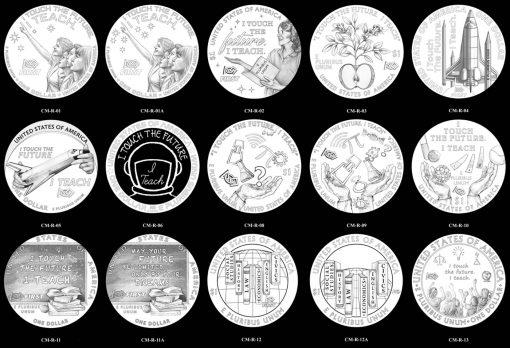 Reverse 2021 Christa McAuliffe Commemorative Silver Dollar Candidate Designs