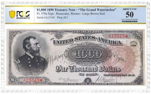 PCGS Banknote Certifies 1890 $1,000 Grand Watermelon Note