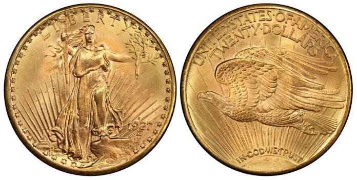 1927-D $20 PCGS MS65+
