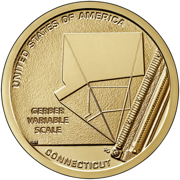 2020 S REVERSE PROOF CONNECTICUT AMERICAN INNOVATION DOLLAR