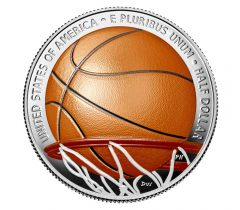 Basketball Hall of Fame 2020 Colorized Half Dollar - reverse