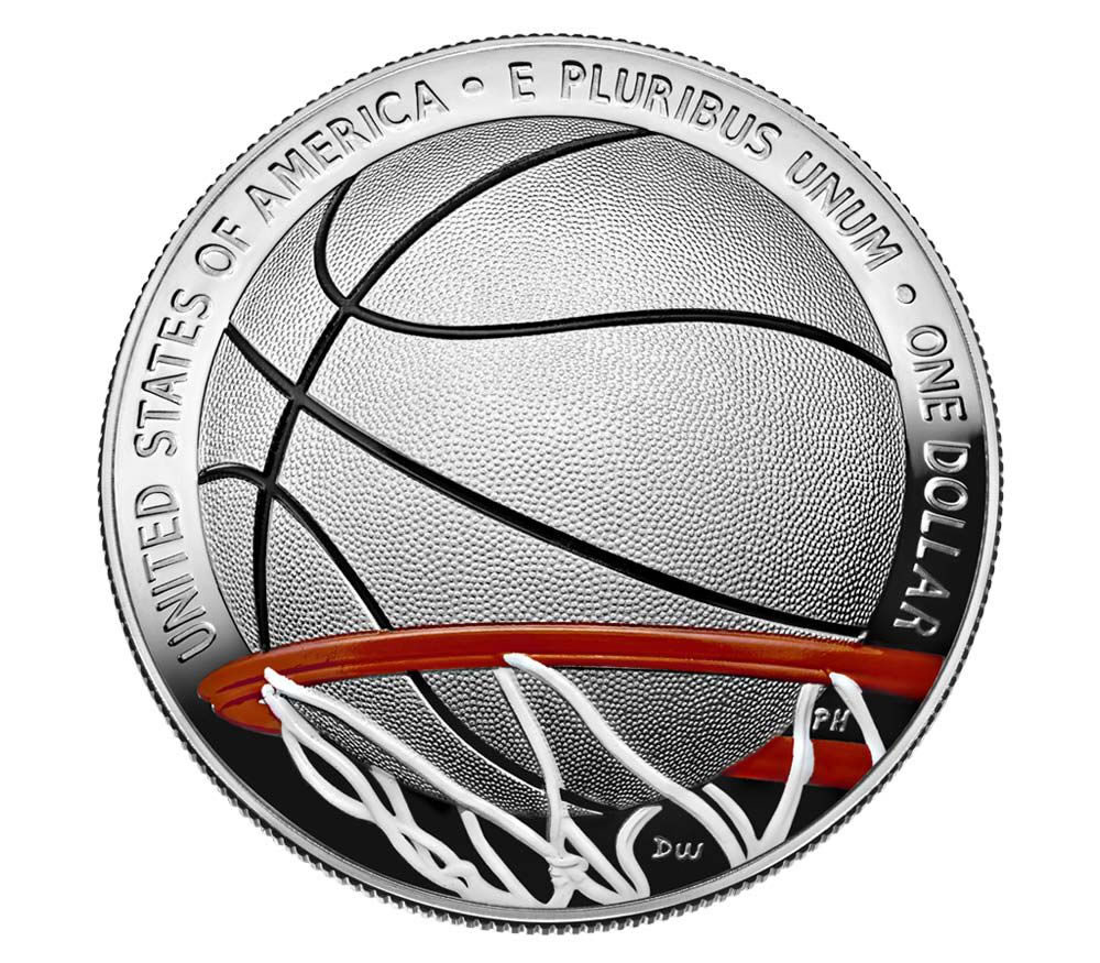 2020 S Colorized Basketball Hall Of Fame Half Dollar Coin!
