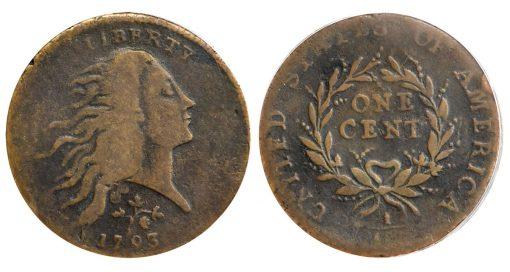 Lot 1006 - 1793 Strawberry Leaf Cent