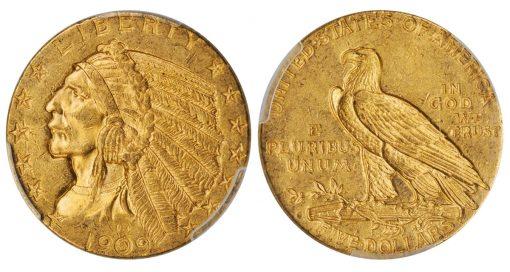 Lot 1542 - 1909-O Indian Half Eagle