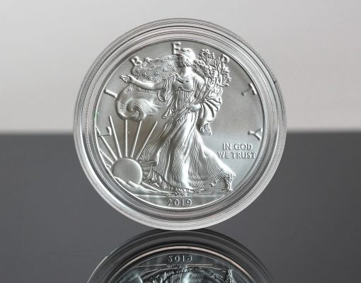 Photo Obverse, 2019-W Uncirculated American Silver Eagle