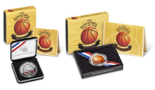 2020 Colorized Basketball Hall of Fame Commemorative Coin