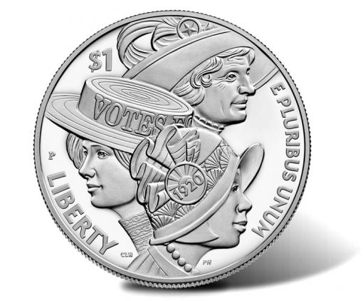 2020-P Proof Women's Suffrage Centennial Silver Dollar - Obverse