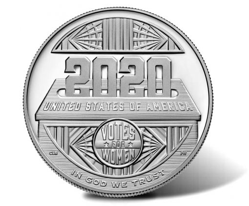 2020-P Proof Women's Suffrage Centennial Silver Dollar - Reverse
