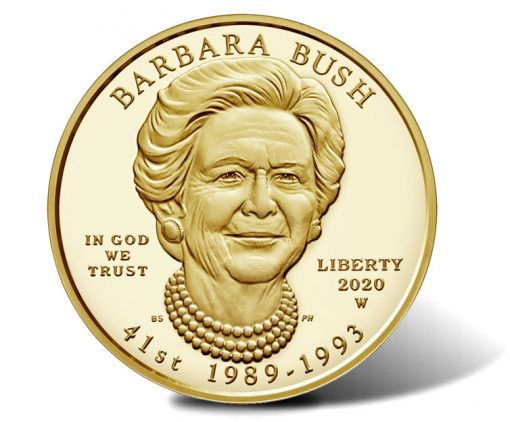 2020-W $10 Proof Barbara Bush First Spouse Gold Coin - Obverse