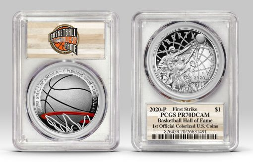 Example of Basketball HOF $1 in PCGS holder