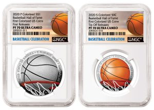 NGC Offers Unique Certification Options for 2020 Colorized Basketball Coins