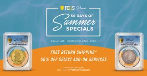 PCGS 50 Days of Summer Specials Graphic