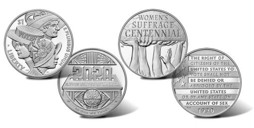 Women's Suffrage Centennial Silver Dollar and Silver Medal