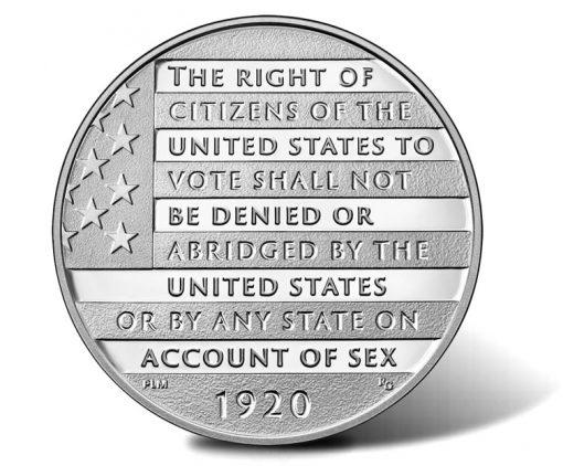 Women's Suffrage Centennial Silver Medal - Reverse