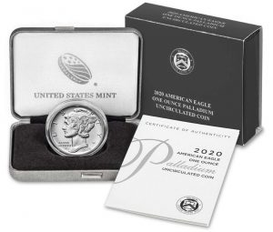 US Mint Sales: 2020 Palladium Eagle and Marsh-Billings-Rockefeller Quarters Debut