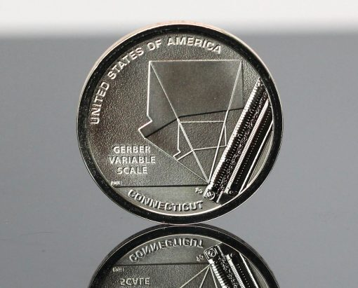 CoinNews Photo 2020-S Reverse Proof Connecticut American Innovation Dollar - Reverse Side