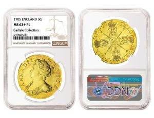 NGC-Certified English 1705 Gold Coin Tops $300,000 in Spink Auction