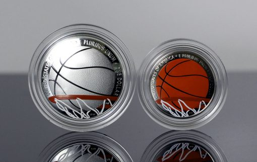 Photo of 2020 Colorized Basketball Commemorative Coins,a