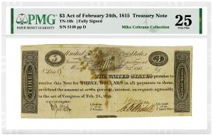 PMG-Certified Notes from Coltrane Collection in Heritage November Sale