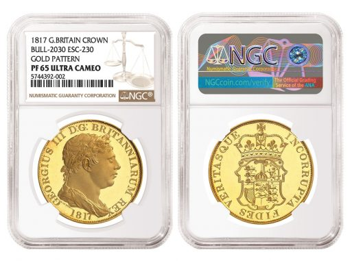 1817 Great Britain Gold Pattern Crown, graded NGC PF 65 Ultra Cameo