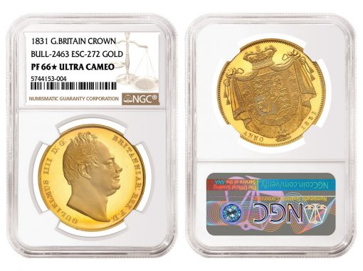 1831 Great Britain Gold Crown, graded NGC PF 66★ Ultra Cameo