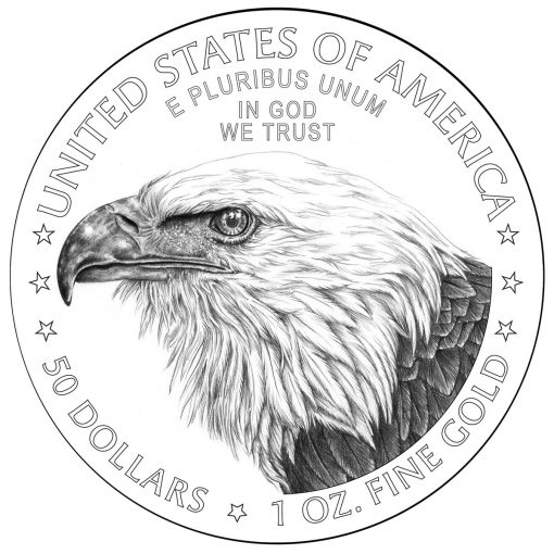 2021 American Gold Eagle Reverse Design