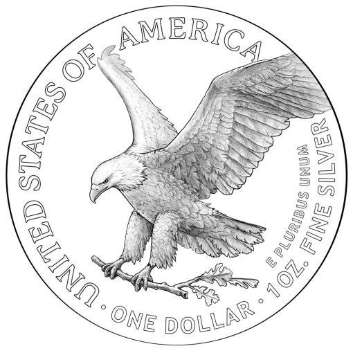 2021 American Silver Eagle Reverse Design