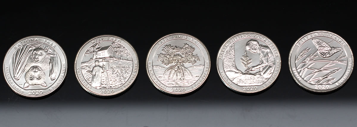 Ten Coin Set Of Circulating 2020 America The Beautiful Quarters For 10 Coin News